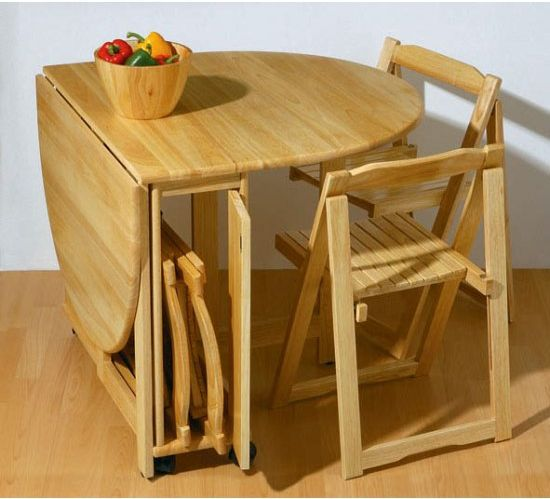 Small kitchen table with chairs photo - 1