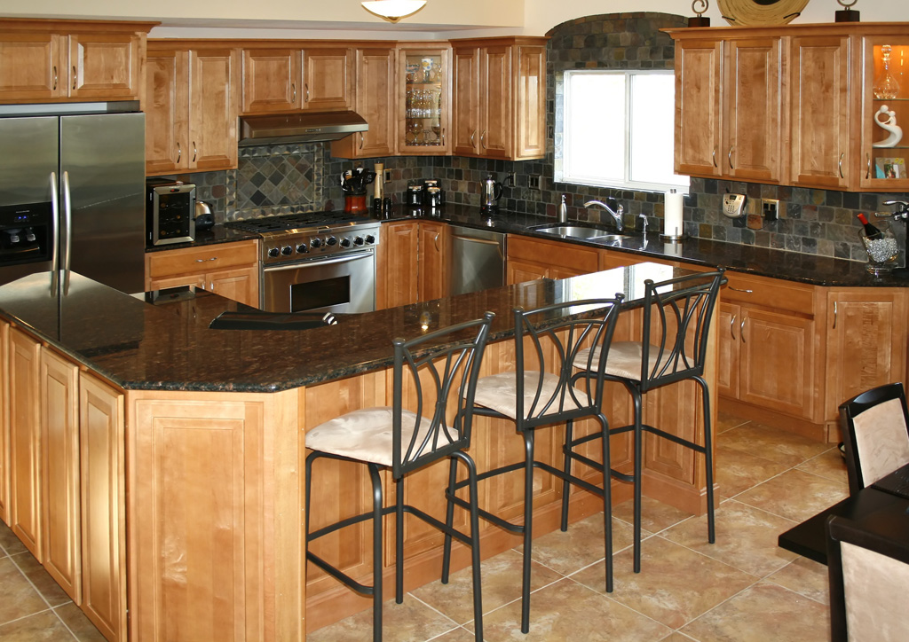 Small kitchen table with stools photo - 2