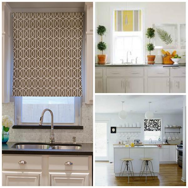 Small kitchen window treatments photo - 3