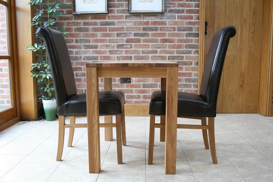 Small oak kitchen table photo - 1