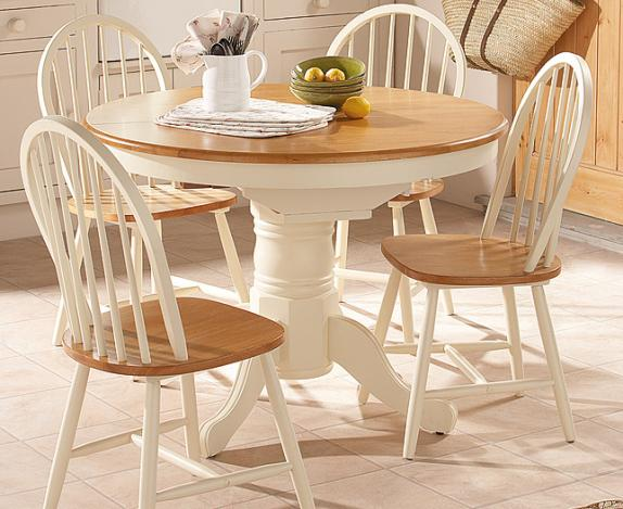 Small round kitchen table and chairs photo - 3