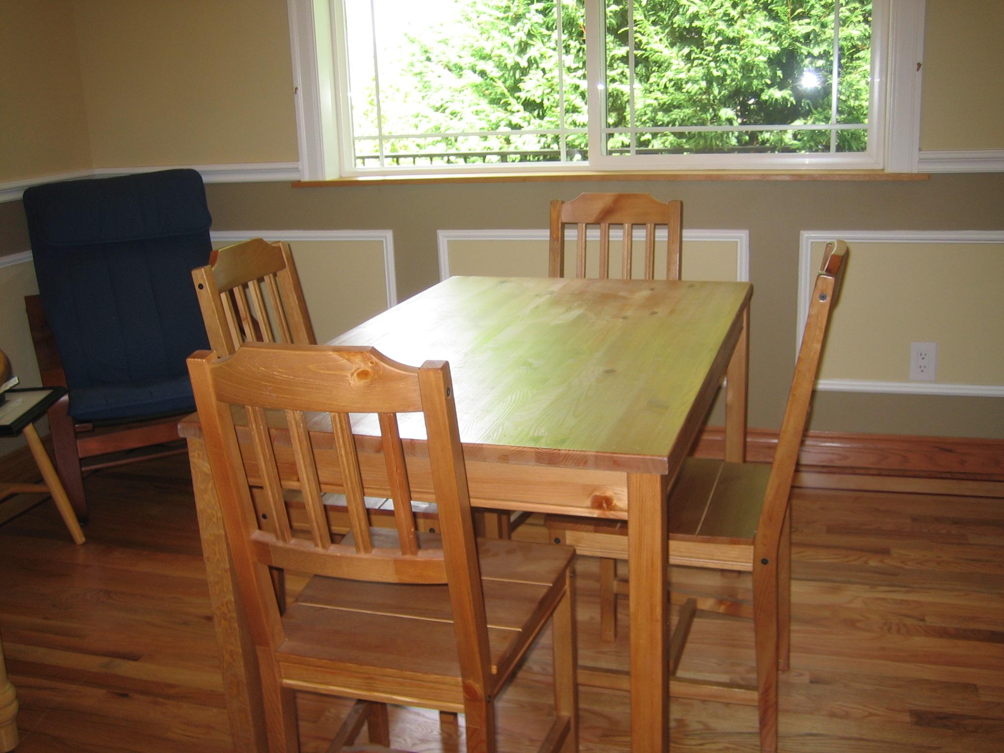 Small round kitchen table set photo - 2