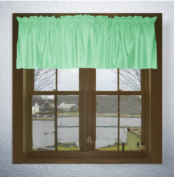 Solid color kitchen curtains photo - 3