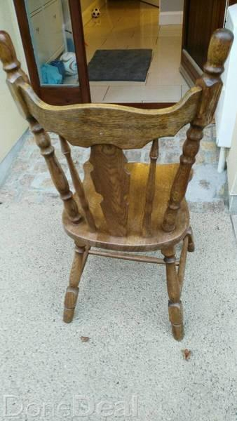 Solid oak kitchen chairs photo - 3
