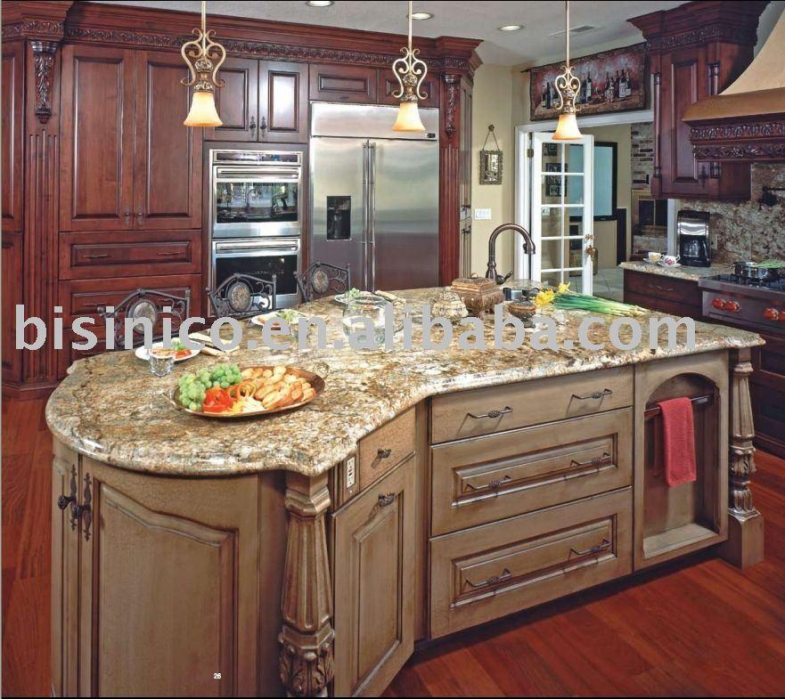 Solid wood kitchen island photo - 1
