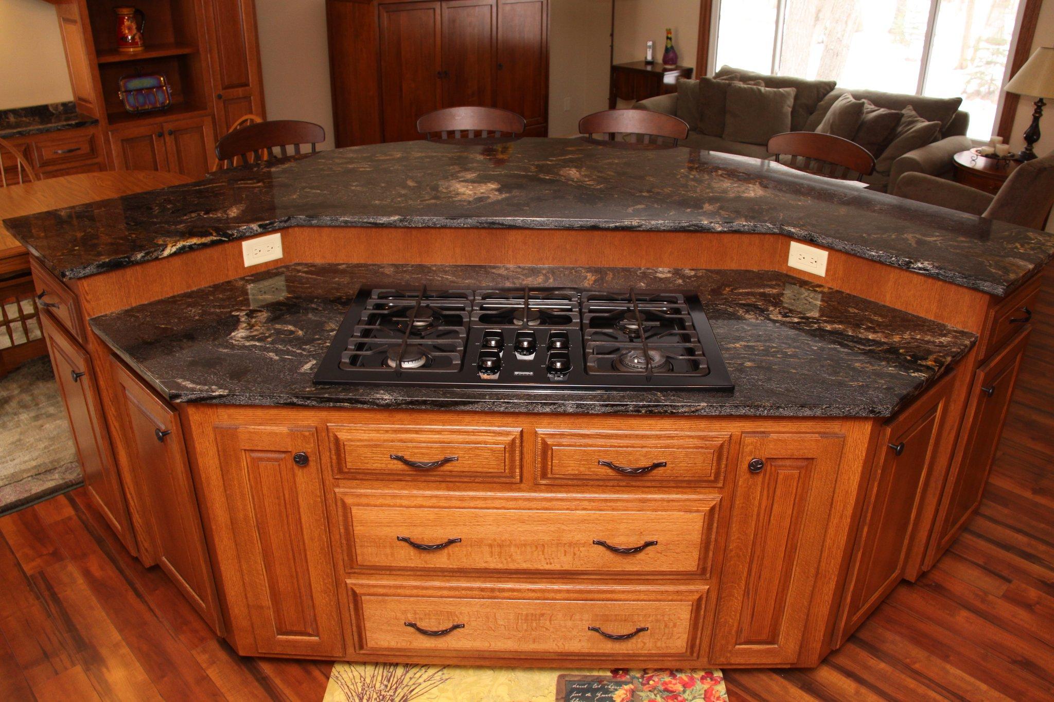 Solid wood kitchen island photo - 3