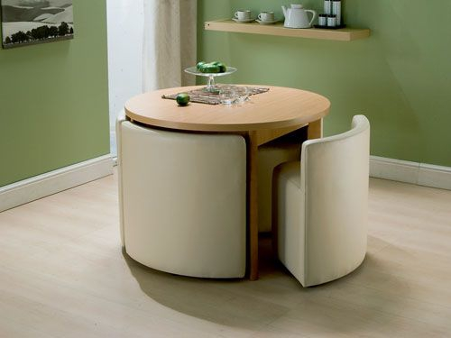 Space saving kitchen table and chairs photo - 2