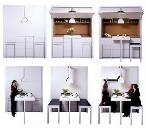Space saving kitchen tables photo - 1