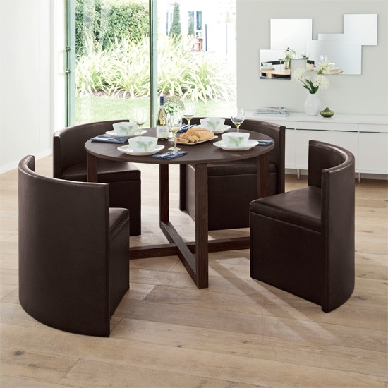 Square kitchen table and chairs photo - 3