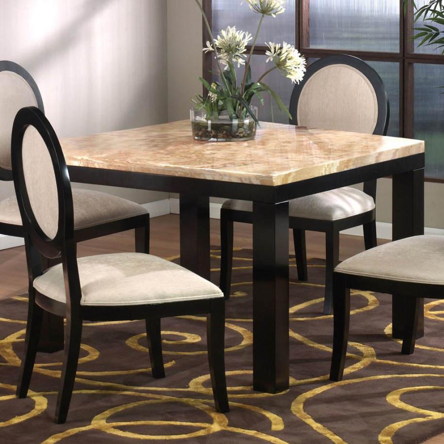 Square kitchen table sets photo - 3