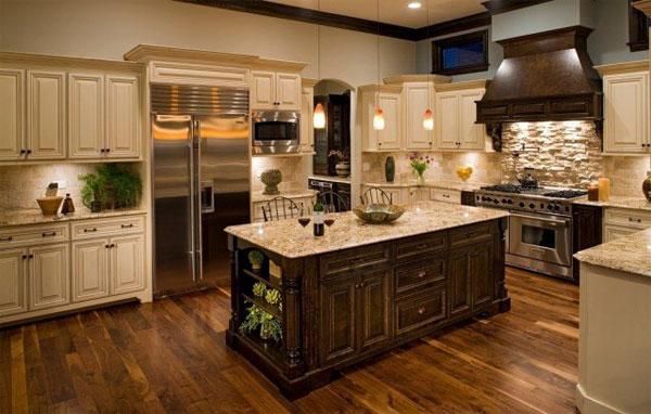 Stainless kitchen island photo - 1