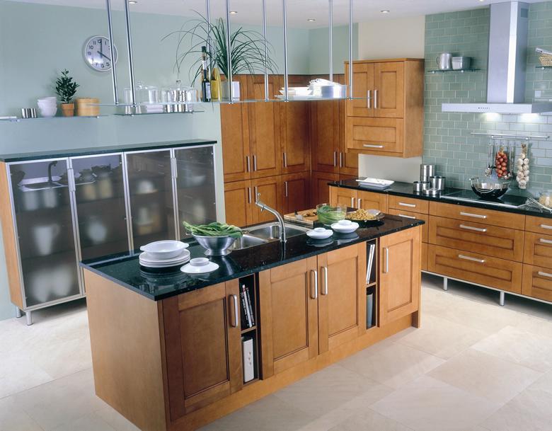 Stainless kitchen island photo - 3