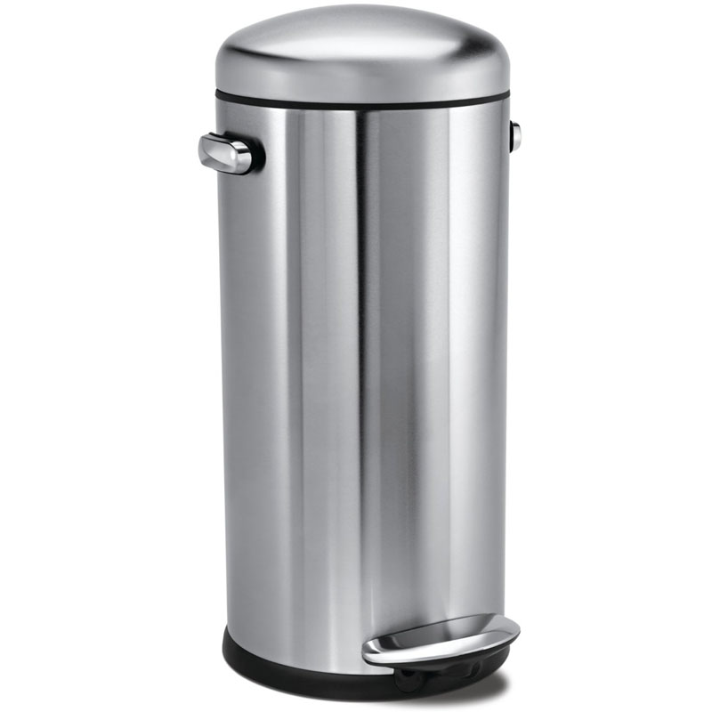 Stainless kitchen trash can photo - 3