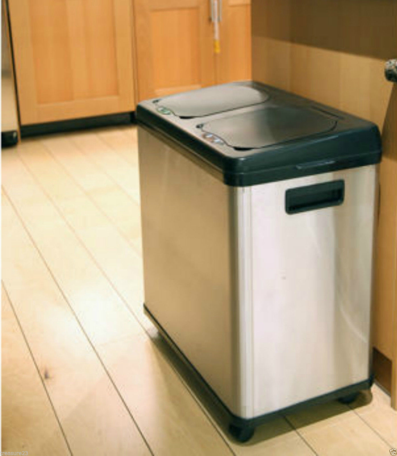 Stainless steel garbage can for kitchen photo - 2