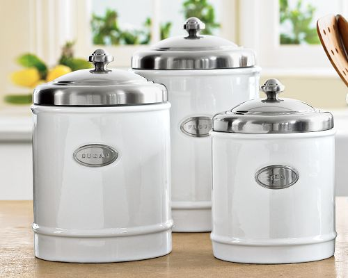 Stainless steel kitchen canisters photo - 1