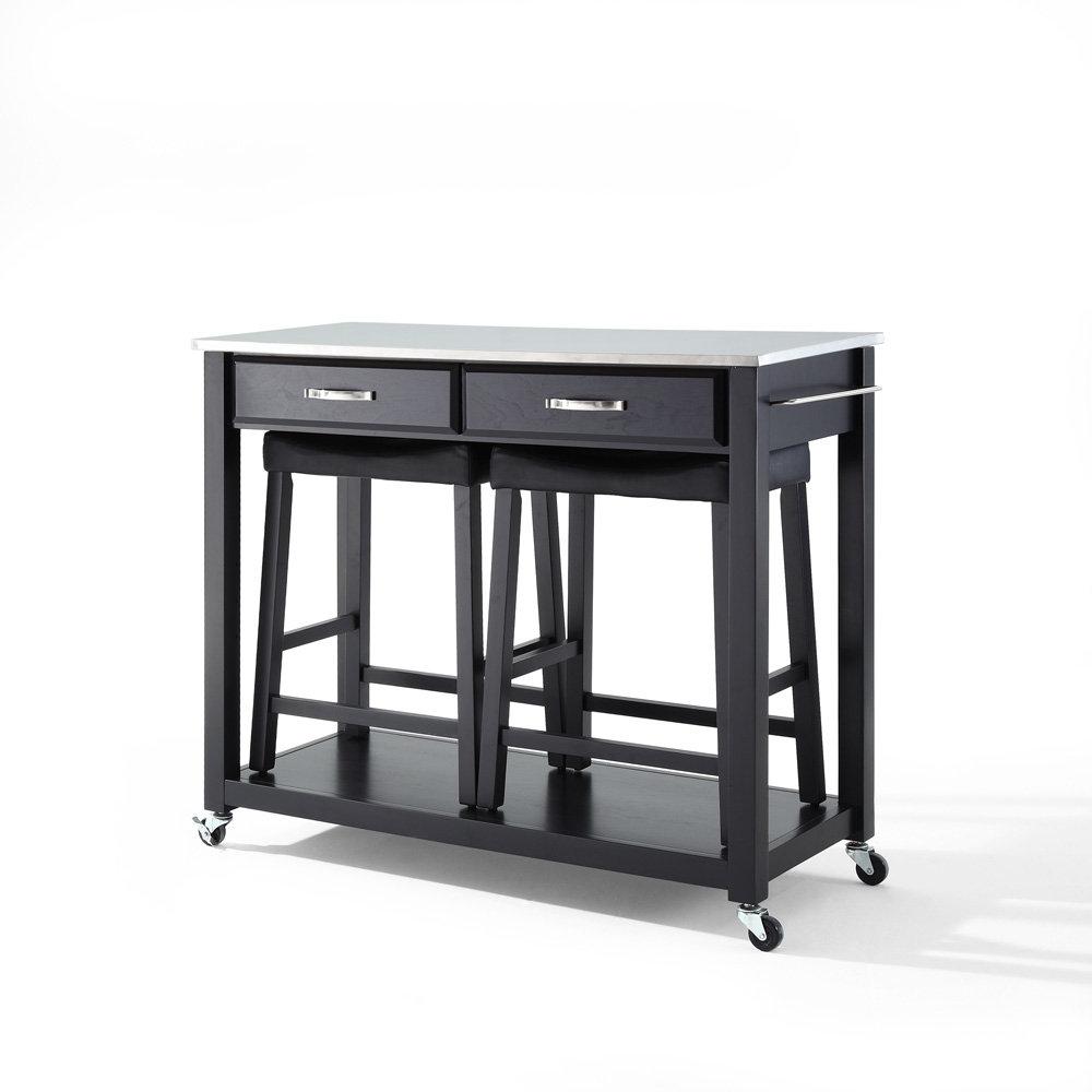 Stainless steel kitchen cart photo - 2