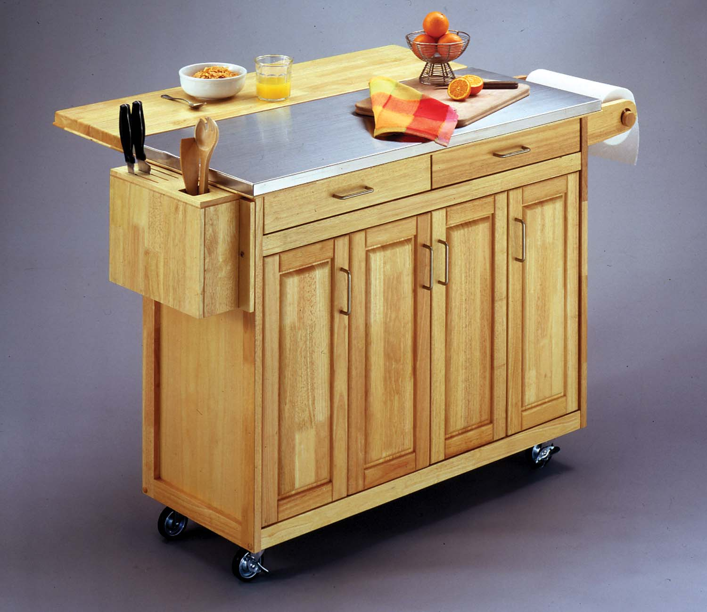 Stainless steel kitchen cart photo - 3
