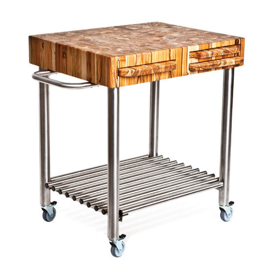 10 Photos To Stainless Steel Kitchen Carts On Wheels