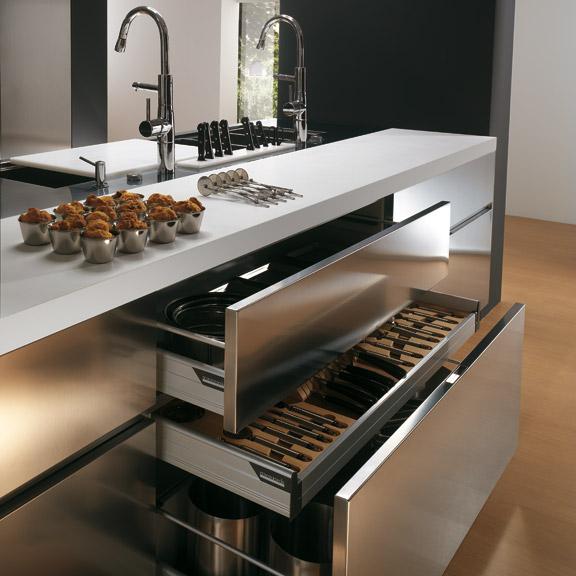 Stainless steel kitchen island photo - 3