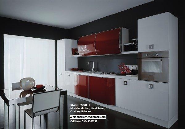 Stainless steel kitchen storage photo - 3