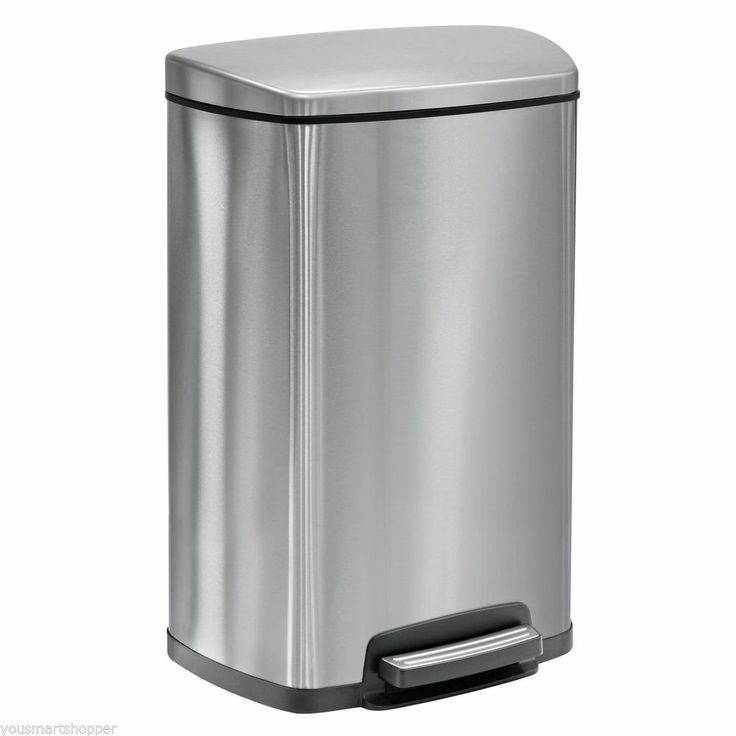 Stainless steel trash can kitchen photo - 3