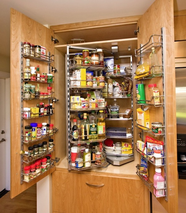Stand alone kitchen pantry cabinet photo - 2