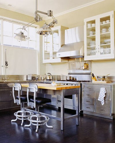 Steel kitchen chairs photo - 1