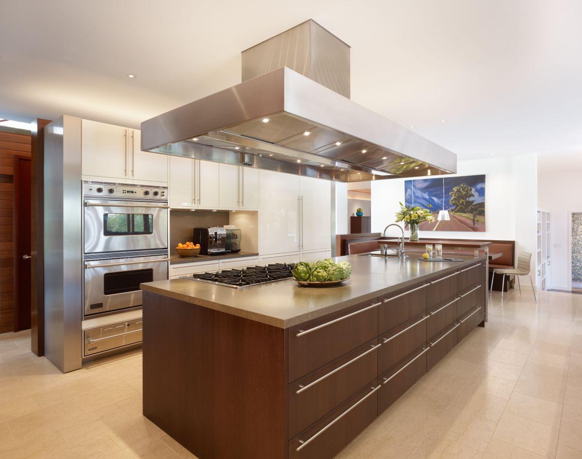 Steel kitchen island photo - 1