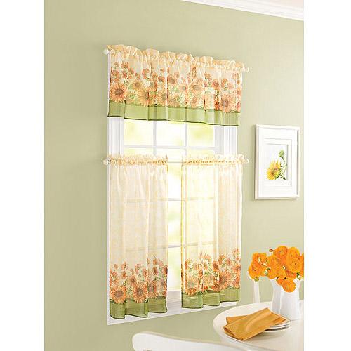 Sunflower curtains kitchen photo - 1
