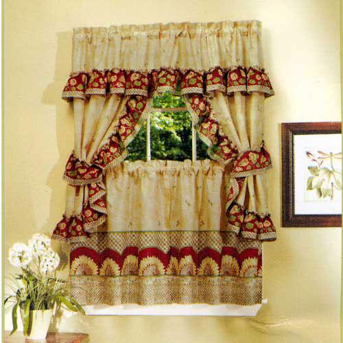 Sunflower curtains kitchen photo - 2