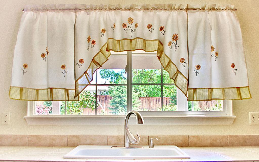 Sunflower curtains kitchen photo - 3