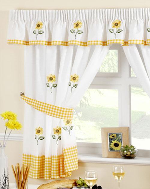 Sunflower kitchen curtains photo - 1