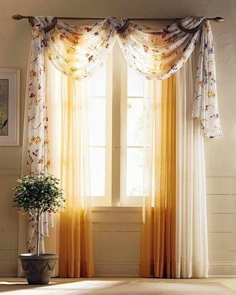 Sunflower kitchen curtains photo - 3