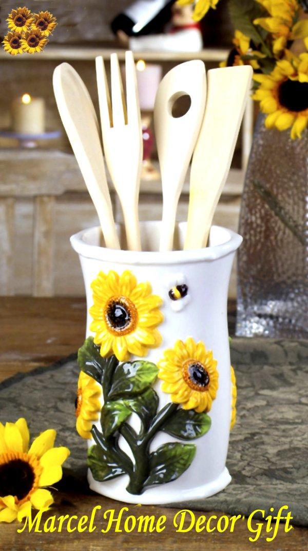 Sunflower kitchen decor photo - 2