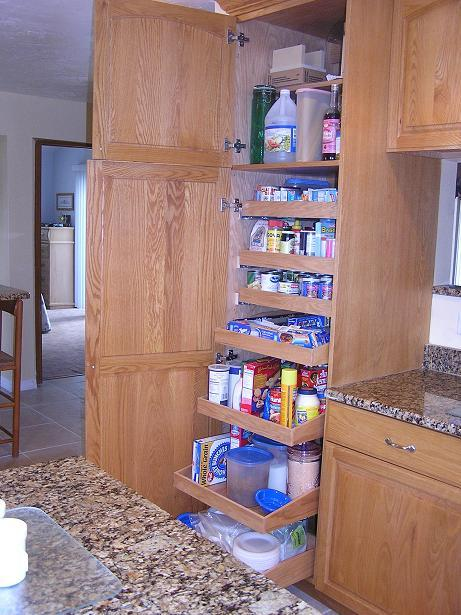 Tall kitchen pantry cabinet photo - 2