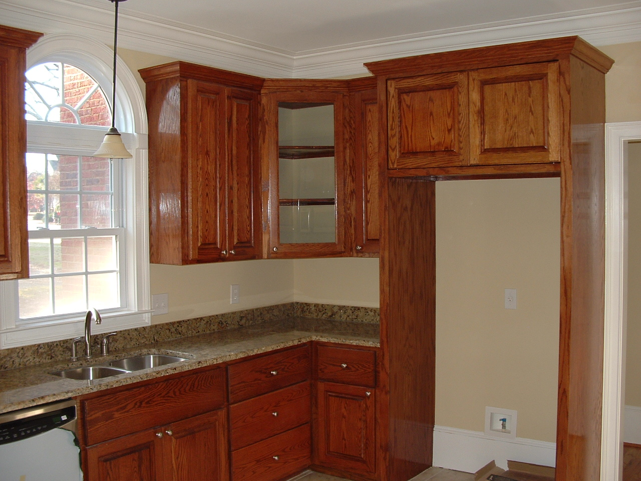 Tall kitchen pantry cabinet furniture photo - 1