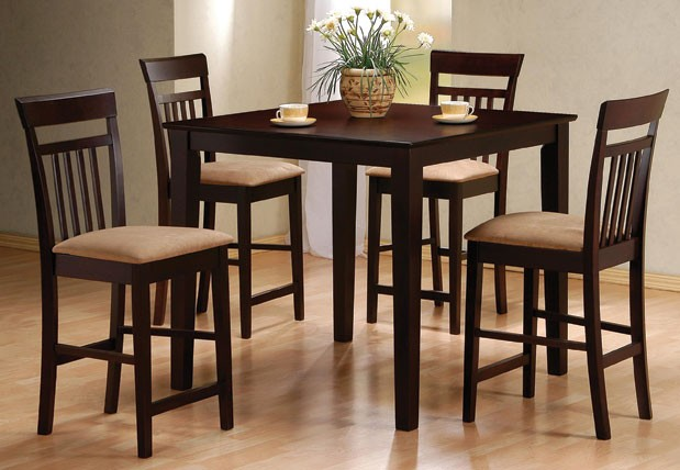 Tall kitchen tables and chairs photo - 2