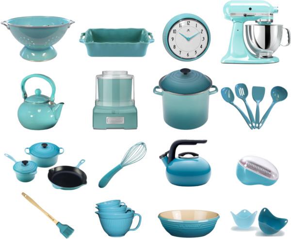 Teal kitchen appliances     Kitchen ideas