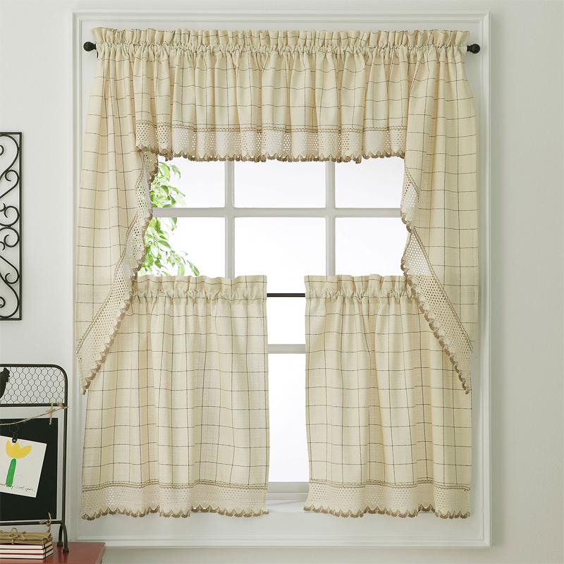 Tier kitchen curtains photo - 1