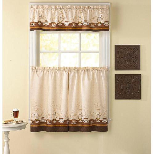 Tiered kitchen curtains photo - 2