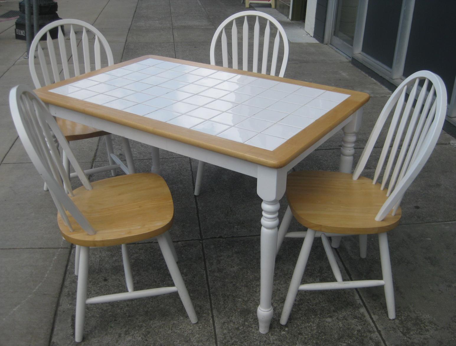 Tile top kitchen tables photo - 3
