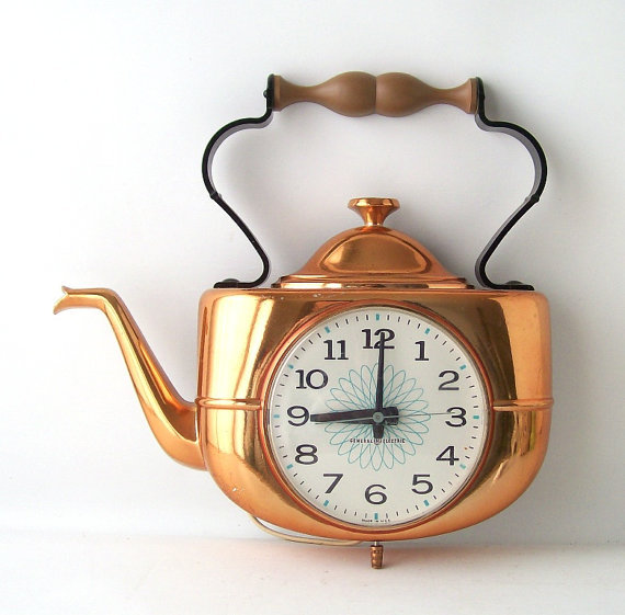 10 Photos To Vintage Kitchen Wall Clocks
