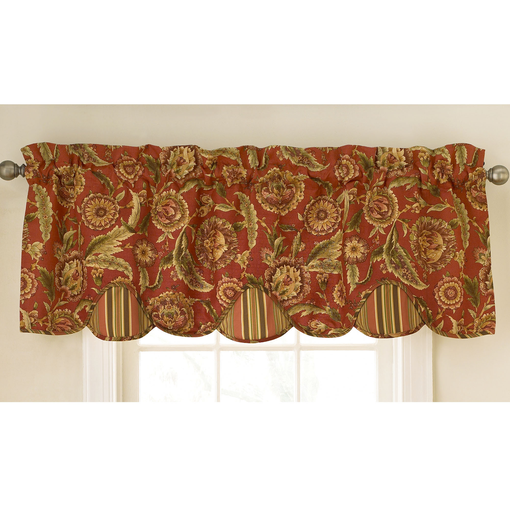 Waverly kitchen curtains and valances kitchen ideas for Valance curtains for kitchen