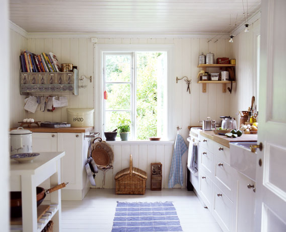 White Country Kitchen Decor unique white country kitchen with stacked shelves view full