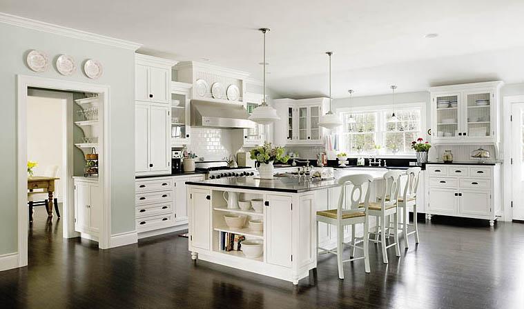 White kitchen bar stools photo - 2