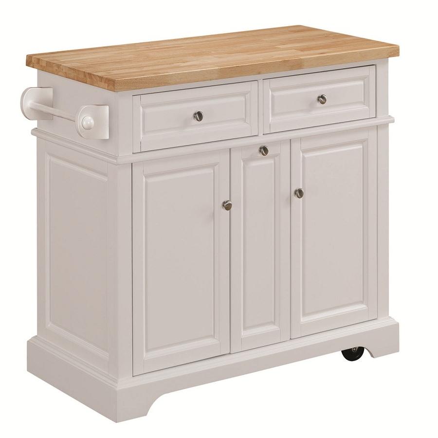 White kitchen cart photo - 1