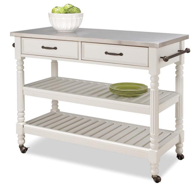 White kitchen cart photo - 3