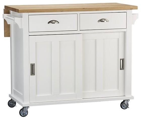 White kitchen cart island photo - 1