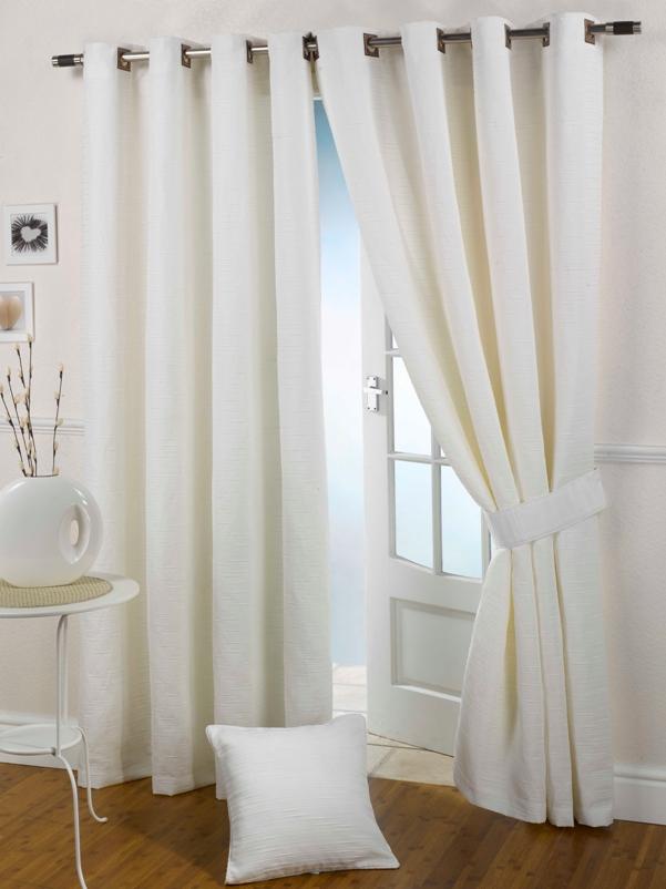 White kitchen curtains photo - 1
