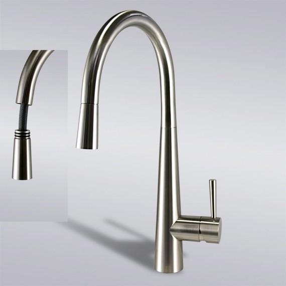 White kitchen faucet photo - 3